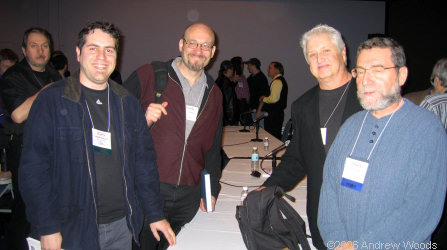 (L-R) myself, Perry Hoberman (USC), Ray Zone, Lenny Lipton at SDA 2006